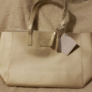 Michael Kors Gold Tote with Sparkles